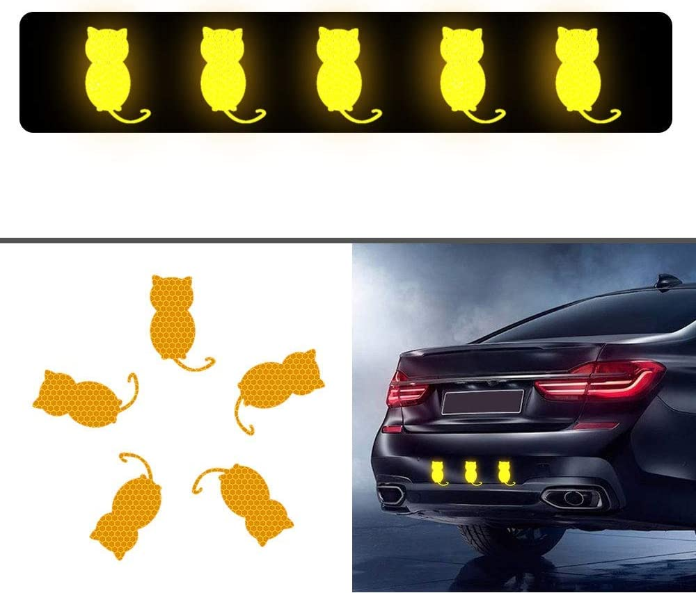 Maite 26 Pieces letters Shaped Reflective Tape Waterproof Self-Adhesive for Car Clothes Backpack and Walkway High Visibilty Tape Outdoor Safety Reflective Sticker DIY Decoration Yellow