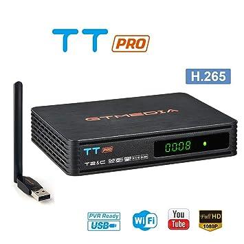GT MEDIA TT Pro DVB-T/T2 DVB-C Decodificador TDT, TV