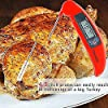 Instant Read Cooking Thermometer - Collapsible Pocket Thermometer with Magnetic Back, Long Probe Digital Meat Grilling Thermometer w/ LCD Screen - for Food, Meat, Grill, BBQ, Milk and Bath Water