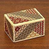 bits and pieces - detailed mosaic secret box - size medium, 7 step solution - wooden brainteaser -
