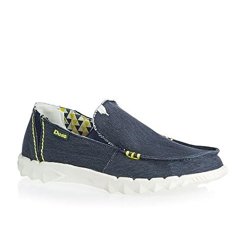 Hey Dude - Zapatos sin cordones con elástico modelo Dude Farty / Azul marino - Azul, Lona, 40.5