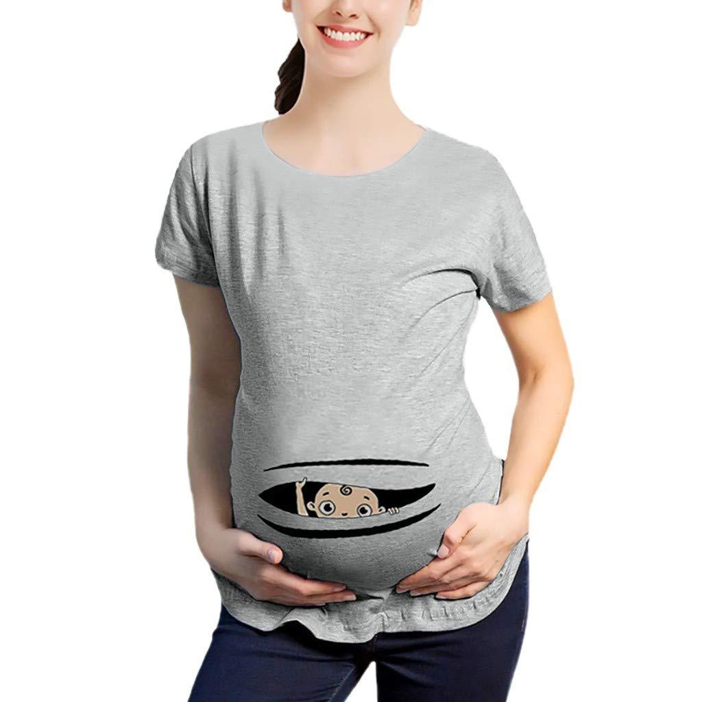 Kurzarm Umstandstop Dasongff Lustige witzige s/ü/ße Umstandsmode Umstandsshirt mit Motiv f/ür die Schwangerschaft Schwangerschaftsshirt