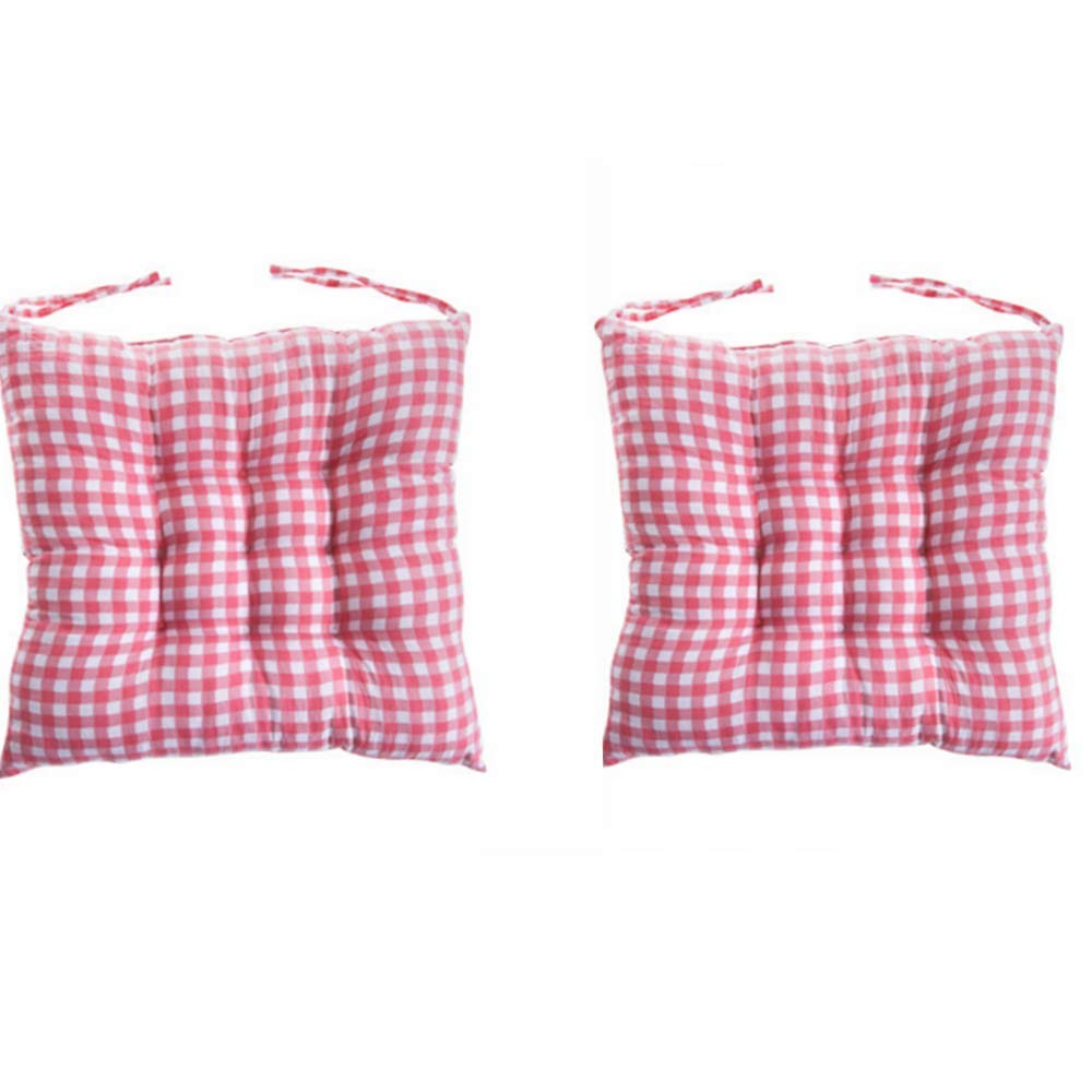 DADA Pack of 2 Comfortable Seat Pads, Soft Garden Kitchen Office Diningroom Chair Cushions With Tie (coffee) Gadgets