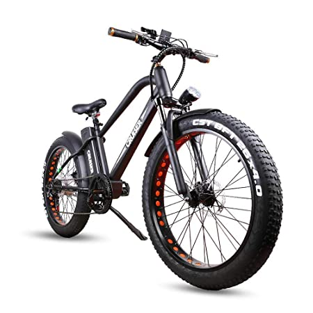 NAKTO Fat Tire Electric Bicycle 26 500W 300W High Speed Brushless Motor and Detachable Waterproof Lithium Battery Electric Bikes Beach Snow ebike