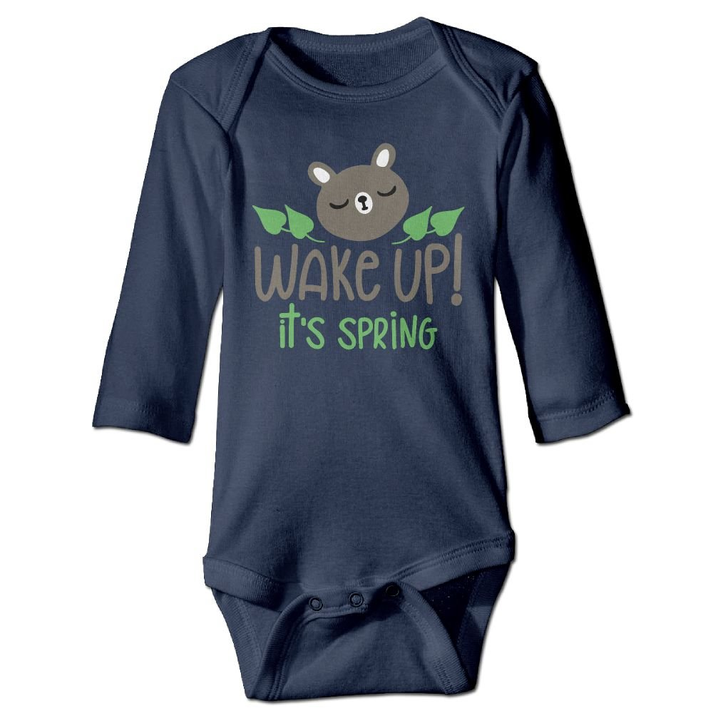 Midbeauty Wake Up Its Spring Newborn Cotton Jumpsuit Romper Bodysuit Onesies Infant Boy Girl Clothes
