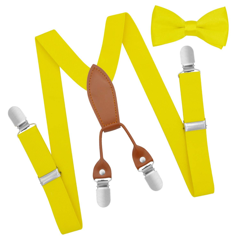 Brooben Child Kids Suspenders Bowtie Set for Boys and Girls SPBT3-DarkGray