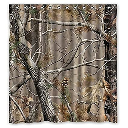 Image Unavailable Not Available For Color HottestRoom Custom Camouflage Tree Shower Curtain Fabric