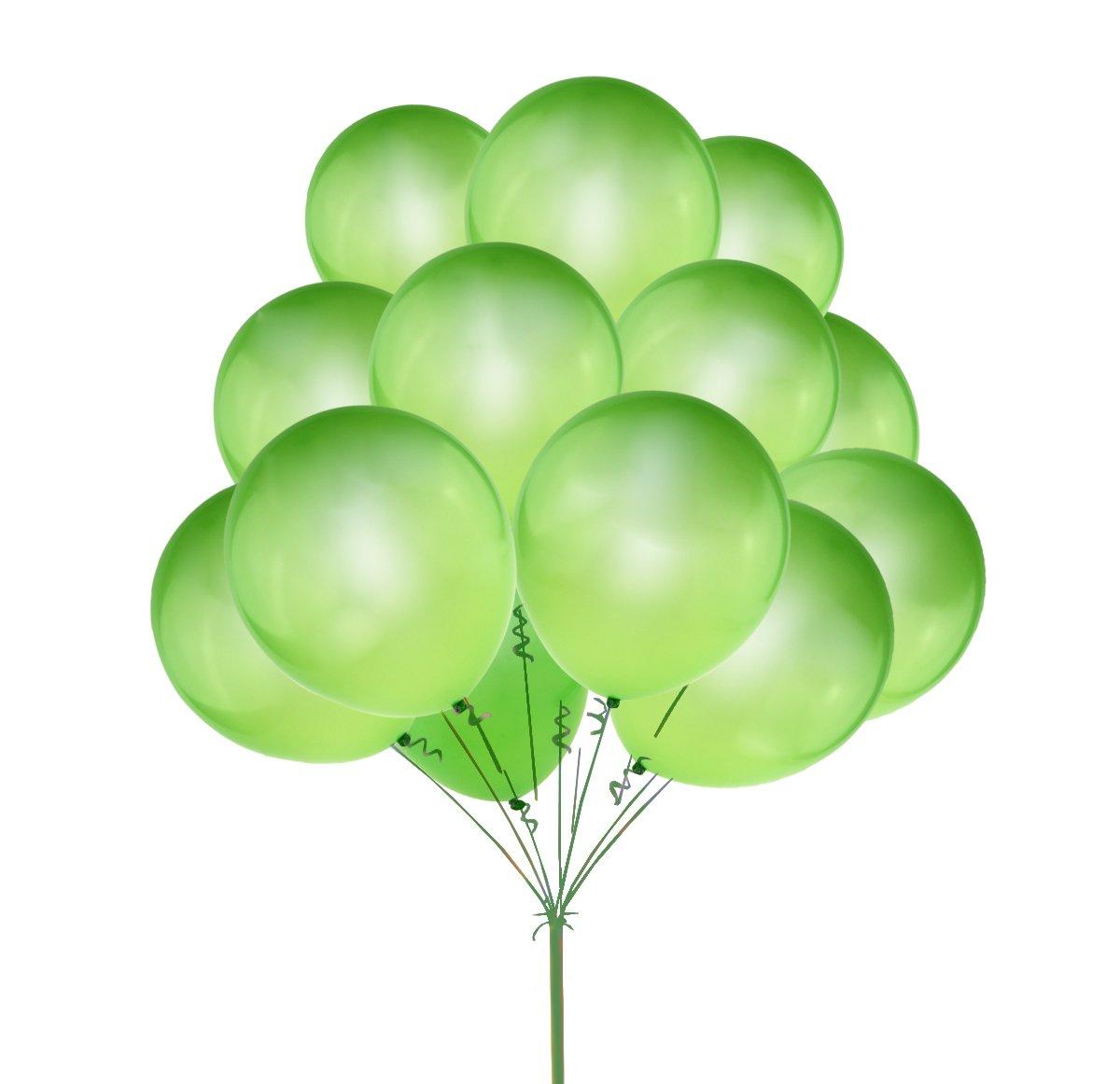 UTOPP 100 pcs Light Green Balloons 12 inches Thick Latex Helium Balloons 9.88 oz/Bag St Patricks Day Carnival Festival Birthday Party