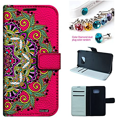 Galaxy S7 Case,CocoZ New Samsung Galaxy S7(2016) Case PU Leather Wallet Flip Credit Card Holder Money Slot Case [Kickstand] (mandala pattern) Sales