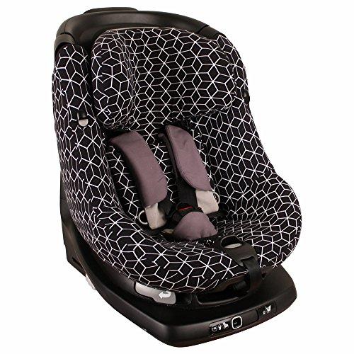 Housse de siège auto pour Maxi-Cosi AxissFix – Géométrique noir ♥