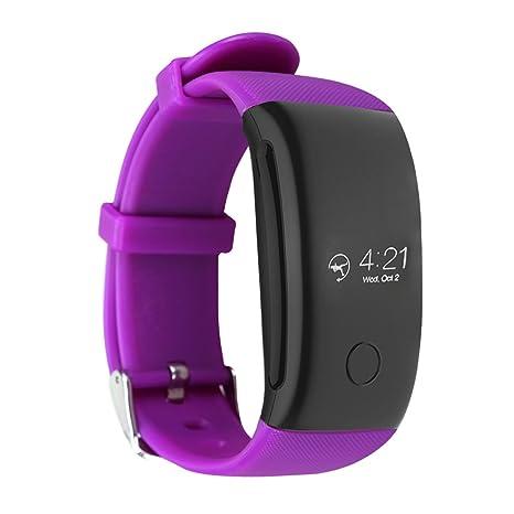 Kivors Reloj Inteligente L1 Bluetooth Smartwatch 1.3 Pulgadas Redondo (Morado)