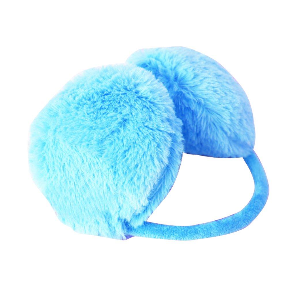 Gaorui Fluffy warm Earmuffs Earcaps Ear cover winter faux fur belt for women girl lady_Blue