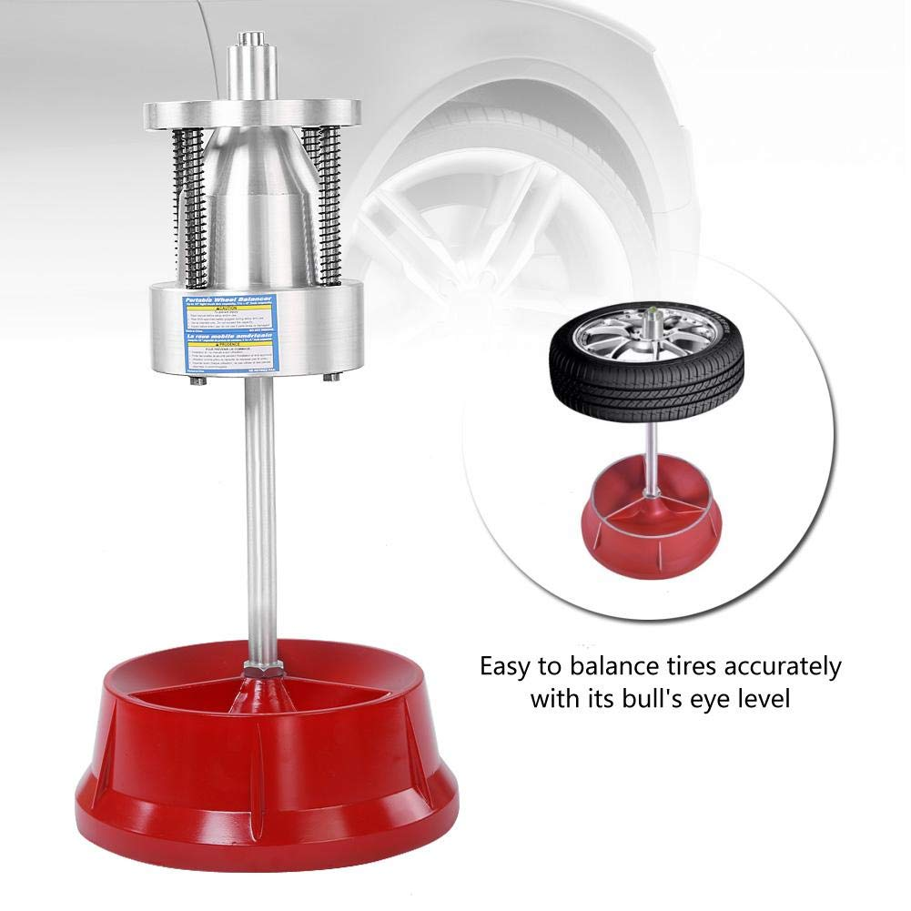 Car Truck Portable Hubs Wheel Tire Balancer Bubble Level Heavy Duty Rim Suuonee Tire Balancer