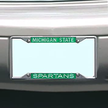 Amazon.com : NCAA Michigan State Spartans License Plate Frame ...
