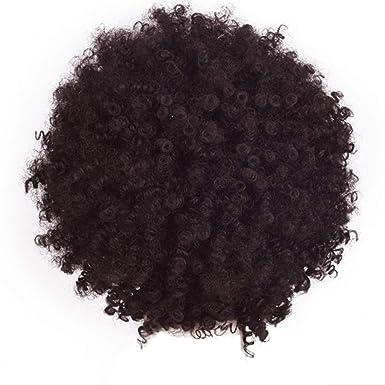 Peluca Mujer Disfraz Rizado Pelucas De Pelo Humano Verdadero Afro Rizado Pelucas Color Negro De Aspecto Natural para Mujeres Beladla: Amazon.es: Ropa y ...
