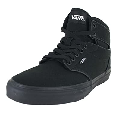452950a57e8 Vans Mens Atwood HI Shoes Canvas Black Black Size 6.5