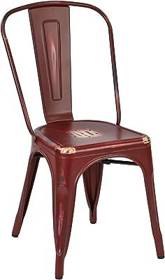 Work Smart/OSP Designs BRW29A4-ARD-osp Bristow Armless Chair (4 Pack), Antique Red