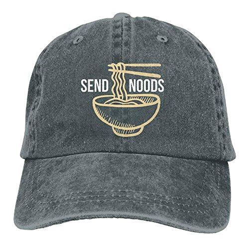 cap&baseball Send Noods Ramen Noodles Plain Adjustable Cowboy Cap Denim Hat for Women and Men - Noodle Lace