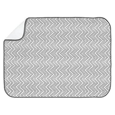 InterDesign iDry Chevron Kitchen Mat, 24 x 18, Gray/White
