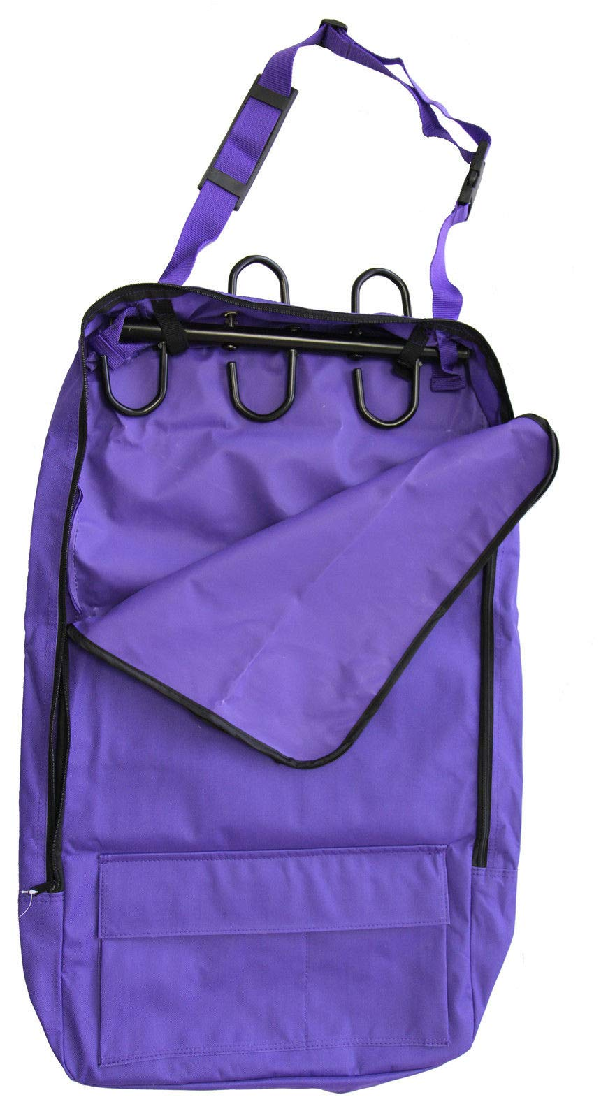 Deluxe Bridle Halter Tote Bag with Removable Tack Rack Purple