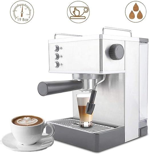 Cafetera Mejorada, Bomba De 19 Bares Cafetera ExpréS 2.2L Tanque De Agua Grande Acero Inoxidable MáQuinas De Expreso Para Hacer Espresso, Cappuccino, Latte Y Moca(220-240V enchufe de la UE): Amazon.es: Hogar