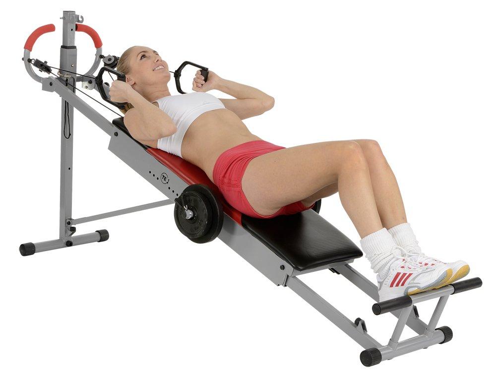 Christopeit 78855103, Trainingsbank TE 1 inkl. Gewichtsset 5kg, 1034