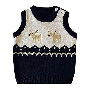 6d44f1b2e Amazon.com  residentD 🙋 Unisex Baby Waistcoat Sleeveless Warm ...