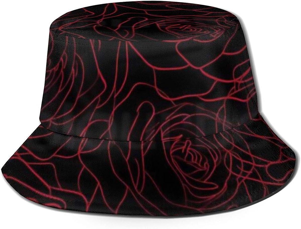 Boys and Girls 100/% Polyester Line Rose Baseball Cap Stretch Trucker Baseball Cap for Unisex
