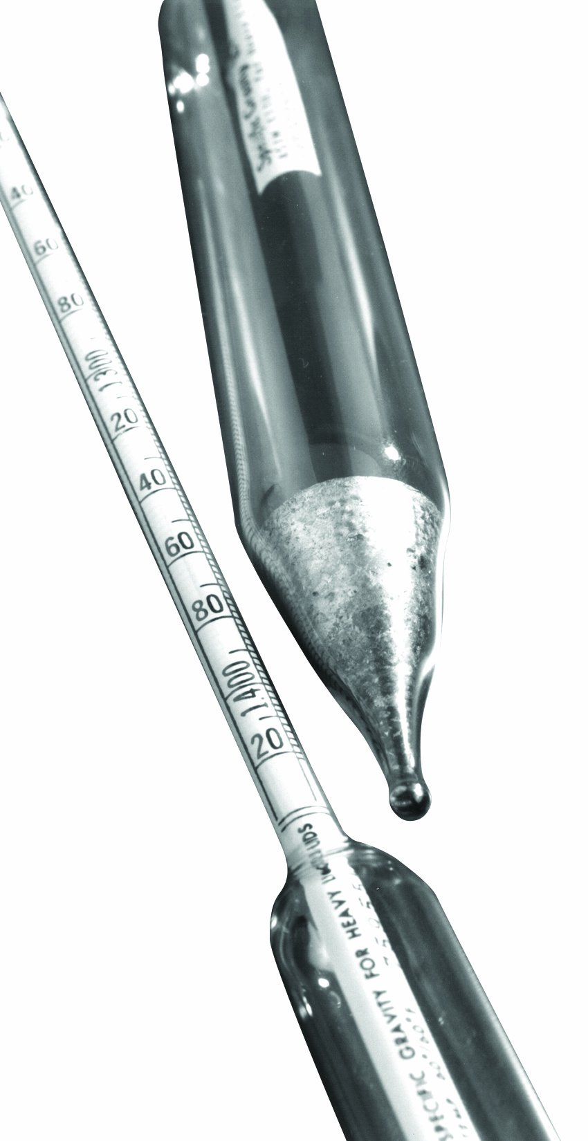 Thomas Durac Specific Gravity Plain Form Hydrometer, Heavier Than Water, 1.200 to 1.400 Range, 165mm Length