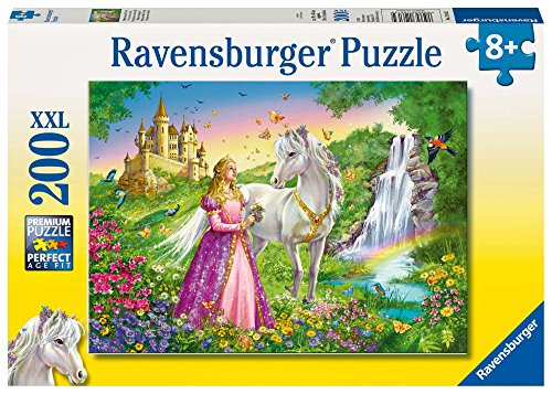 (Princess with White Horse and Castle 200 Piece Puzzle by Ravensburger: Ages 8 And Up)