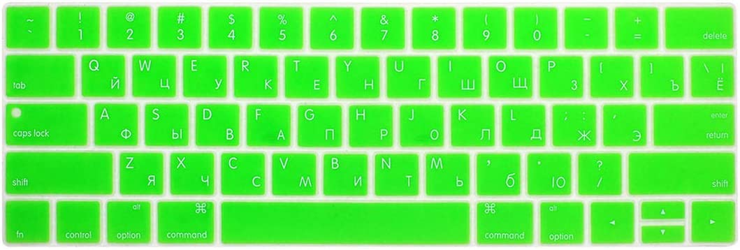 Russian Keyboard Cover Compatible for Mac Book 13 15 Inch with Touch Bar A1706 A1707 A1989 1990 Laptop Keyboard Covers Color Keyboard Film,Light Blue