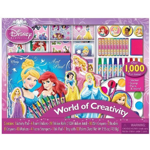Disney Princess World of Creativity Sticker, Stamp, Paint, and more than 1000 (Disney Princess Scrapbooking)