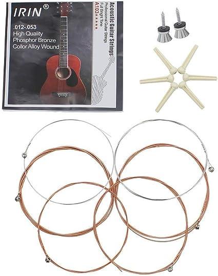 Folk guitarra acústica 3 en 1 accesorios partes, juego de cuerdas ...