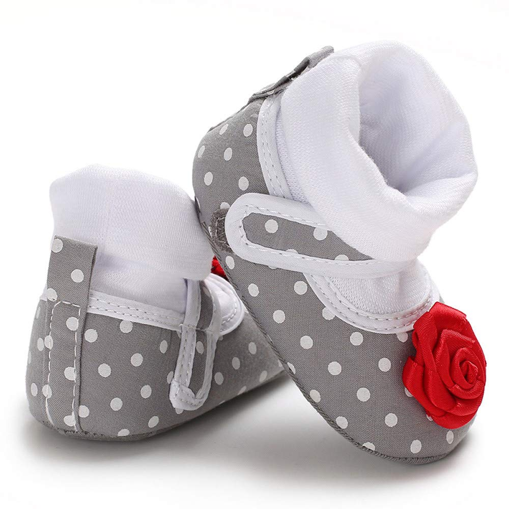 wwffoo Unisex Baby Kids Fun Shoes Warm Winter Infant Prewalker Toddler Snow Boots for 0-18 Months