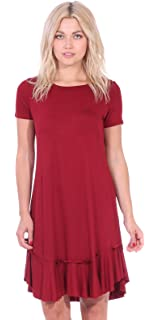 6c632b1e04 Popana Women s Casual Short Sleeve Knee Length Summer Midi Dress Made in USA
