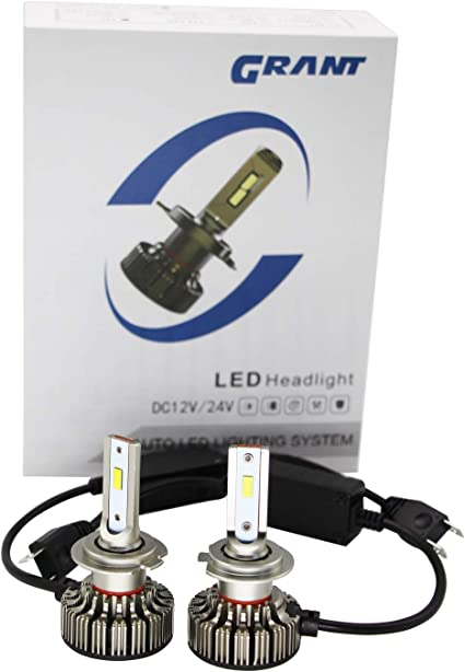 GRANT 2 X H4 LED Faros Delanteros Bombillas Cohces L/ámpara luz 6500K 3 a/ños de garant/ía