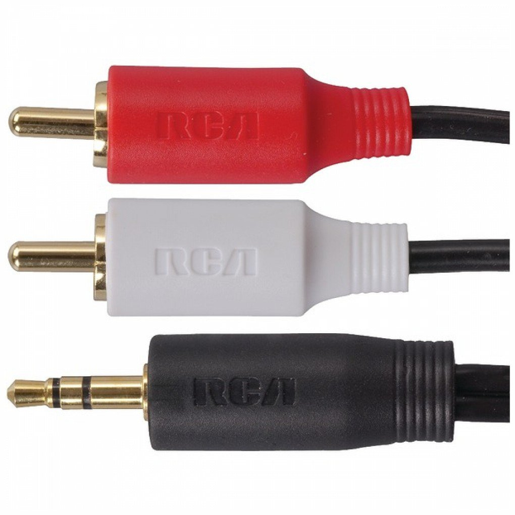 Amazon.com: RCA AH205R 3.5mm to 2 RCA Plugs Y-Adapter, 3 ft: Home ...