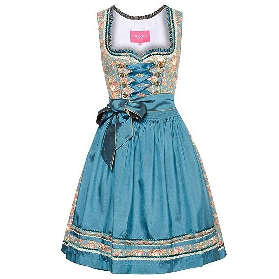 - Super Marjo Mini Dirndl in blau//türkis//weiß Gr NEU 46