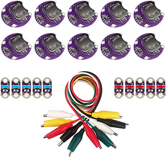 Bolsen Tech 20 PCS//LOT Lilypad Coin Cell Holder CR2032 Mount Module Lily Pad for Arduino Small Slide Switch Board