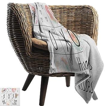 Amazon.com: Sunnyhome Xo,Lightweight Blanket,Love You Hugs ...