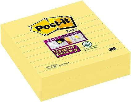 Post-it Super Sticky - Pack de 3 blocs notas, 70 hojas/bloc, color ...
