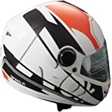 Steelbird SB-39 Rox Speed-R with Plain Visor (Large 600MM, White orange with Black)