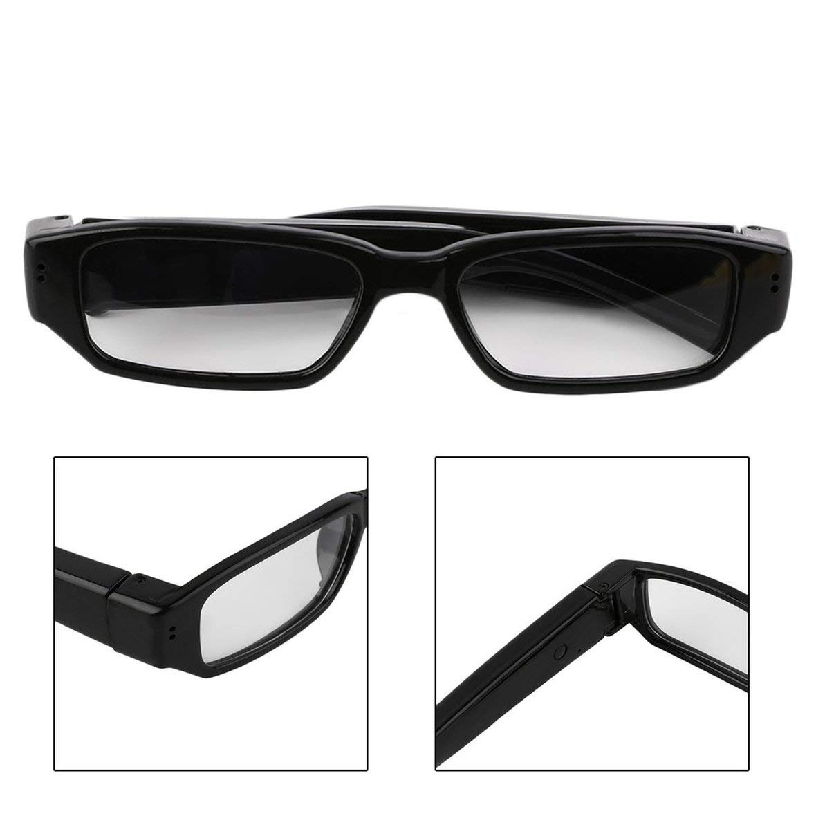 Heaviesk Mini 1080P HD C/ámara de Video Gafas Gafas Grabadora de Video DVR C/ámara de Video para Deportes al Aire Libre Senderismo C/ámara