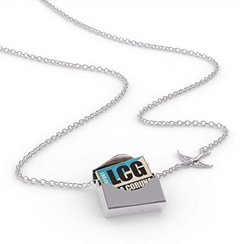 Amazon.com: NEONBLOND Locket Necklace Airportcode LCG La ...