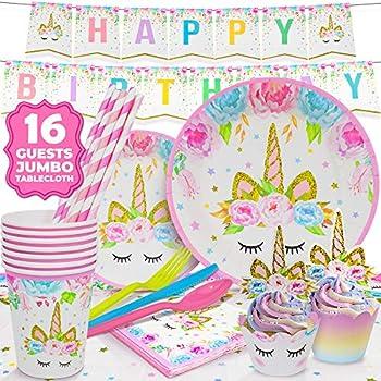 Amazon com: ORIENTAL CHERRY Unicorn Party Supplies