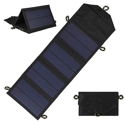 WENIHDJKA Cargador Solar Plegable de 7 W con Panel de ...