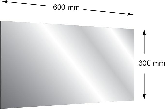 Lot de 3/mm en acrylique 2/voies Miroir 600/x 300/mm