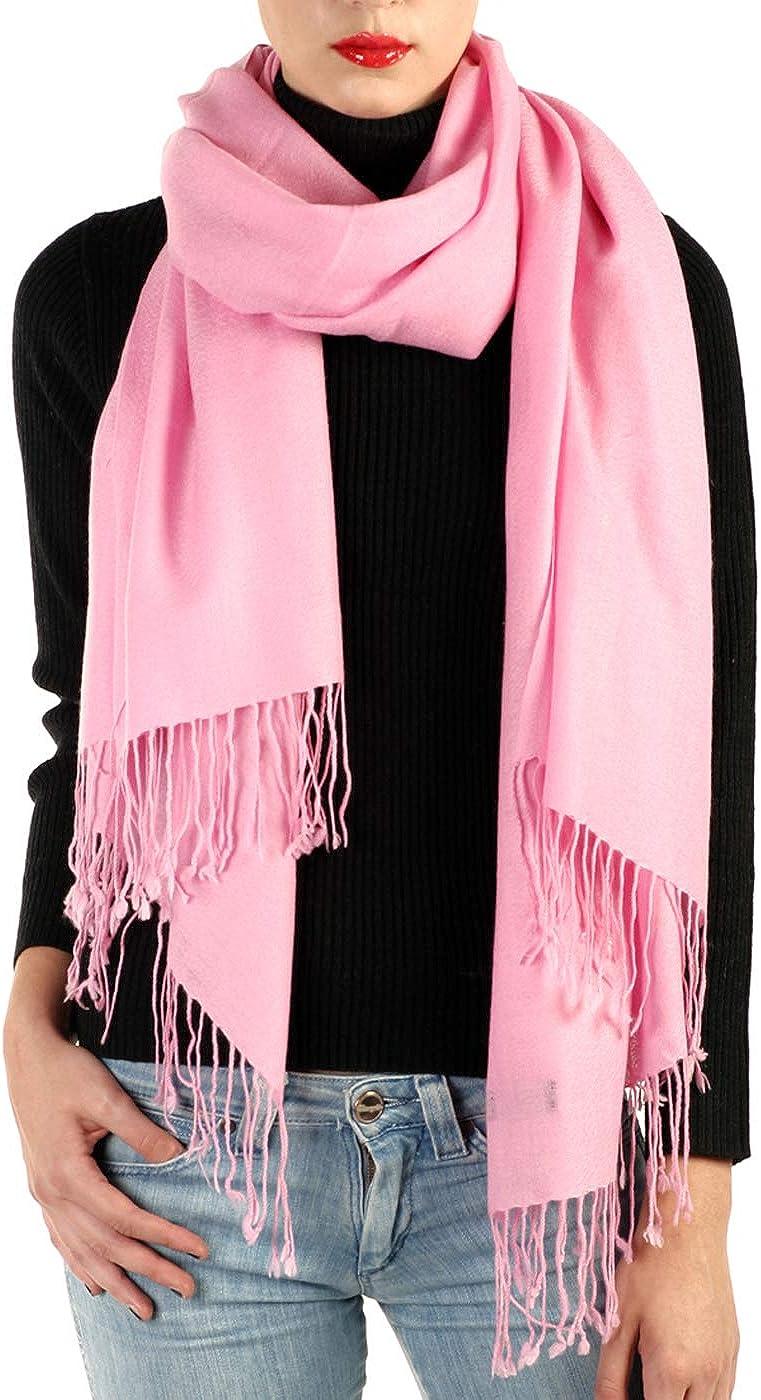 "Large 80/""x28/"" Pure Cashmere Scarf Shawl Wrap Luxurious Pashmina Women,Baby Pink"