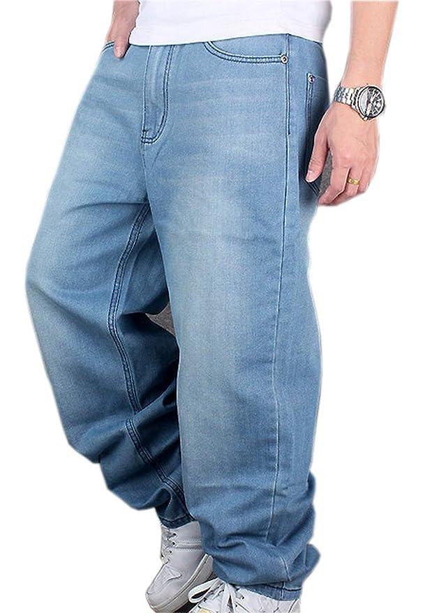 1242b133a7e1d Pantalones De Mezclilla Hip Hop De Hombre Hellbalu Tamaños Cómodos Pantalones  De Mezclilla Estilo Holgado Hugh De Rap Pantalones Ocasionales De Mezclilla  ...