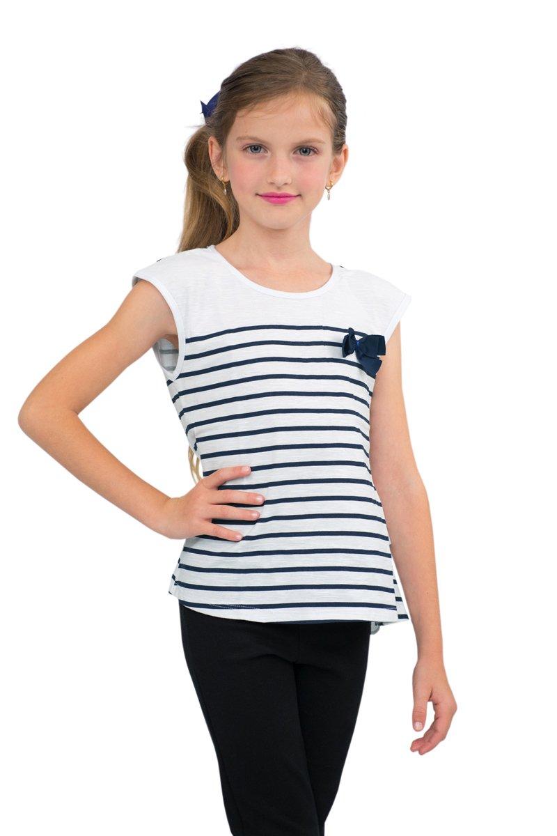 Pulla Bulla Little Girls' Striped Tank Top Sleeveless Shirt G34705